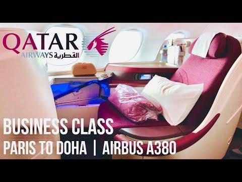 Qatar Airways Business Class Paris to Doha | Airbus A380