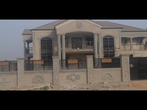 My Ghana building project #8. Tiles and Balustrades phase.