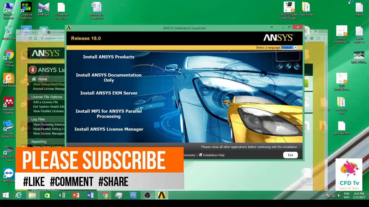 Ansys 18 0 complete installation step by step procedure