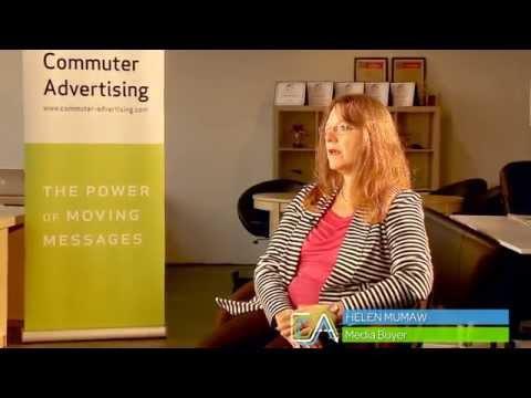 Commuter Advertising Client + Media Buyer Helen Mumaw