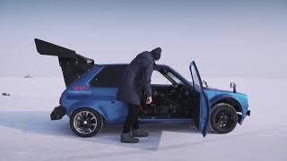 Убийца Жигулей в зимнем дрифте - Тойота Старлет