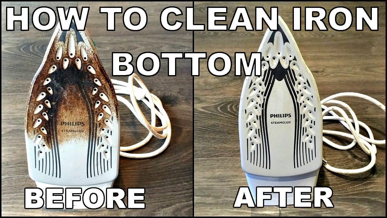How to clean the iron yourself 9