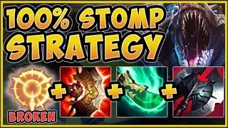 THE STRAT I ABUSED TO GET TO HIGH ELO! 100% STOMP RENEKTON STRAT! RENEKTON S9! - League of Legends