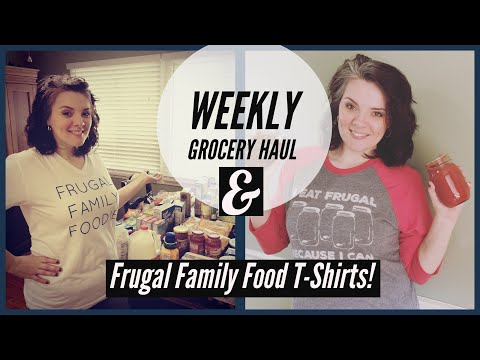 Weekly Grocery Haul || Amish Salvage Store || Aldi Haul || Frugal Family Food TSHIRTS!
