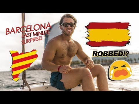 SURPRISING MY FRIENDS IN BARCELONA...