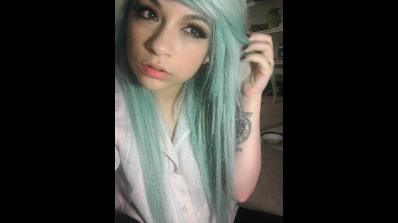 Dying My Hair Light Pastel Blue Turquoiseaquatealbubblegum