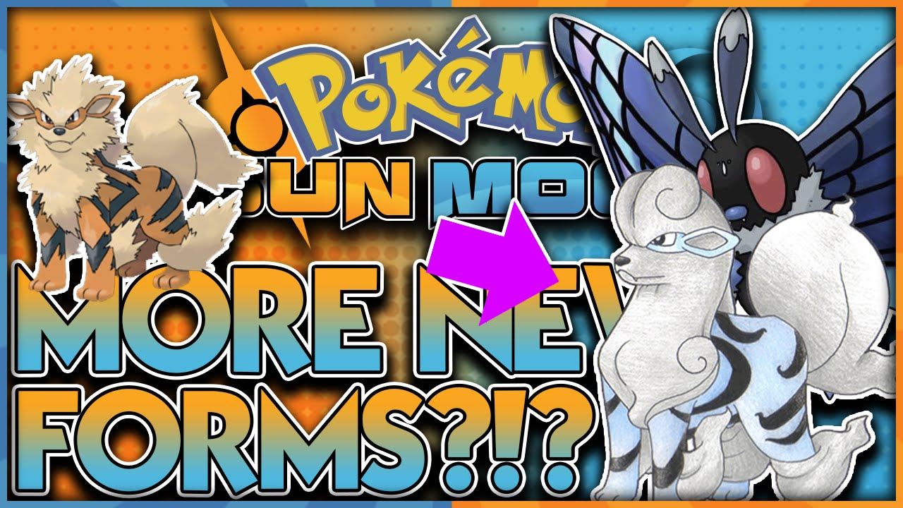 WATER ARCANINE AND MORE?! NEW POKEMON FORMS LEAKED! POKEMON SUN ...
