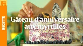 Gâteau d'anniversaire aux myrtilles