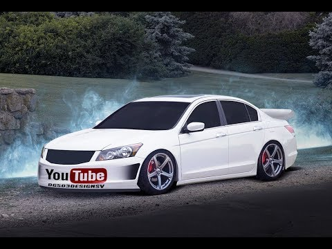 honda accord 2009 virtual tuning photoshop time lapse. Black Bedroom Furniture Sets. Home Design Ideas