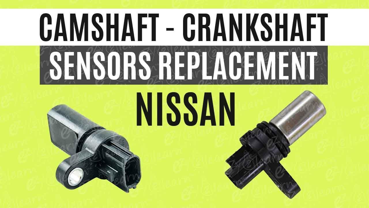 Replace Camshaft Crankshaft Sensor Nissan Xtrail Altima QR25DE Fix engine  cuts out P0725 P0335 P0340