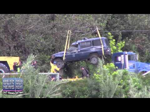 Police Vehicle Lifted From Embankment After Crash, Jan 9 2015