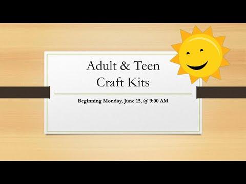 summer-adult/teen-craft-kits!