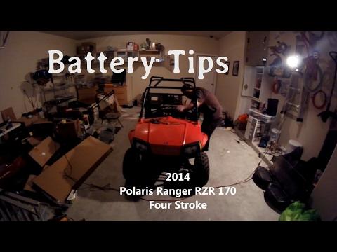 Polaris RZR 170 Battery Charging Tip YouTube