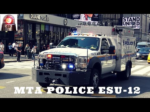 RARE: New MTA Police Emergency Services Unit with Forward Blue LIghts