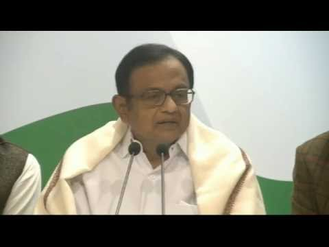 AICC Press Briefing By Shri P.Chidambaram at Congress HQ. December 30, 2016