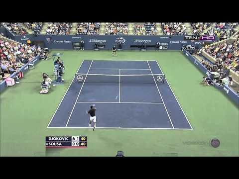 Joao Sousa's amazing shots vs Novak Djokovic