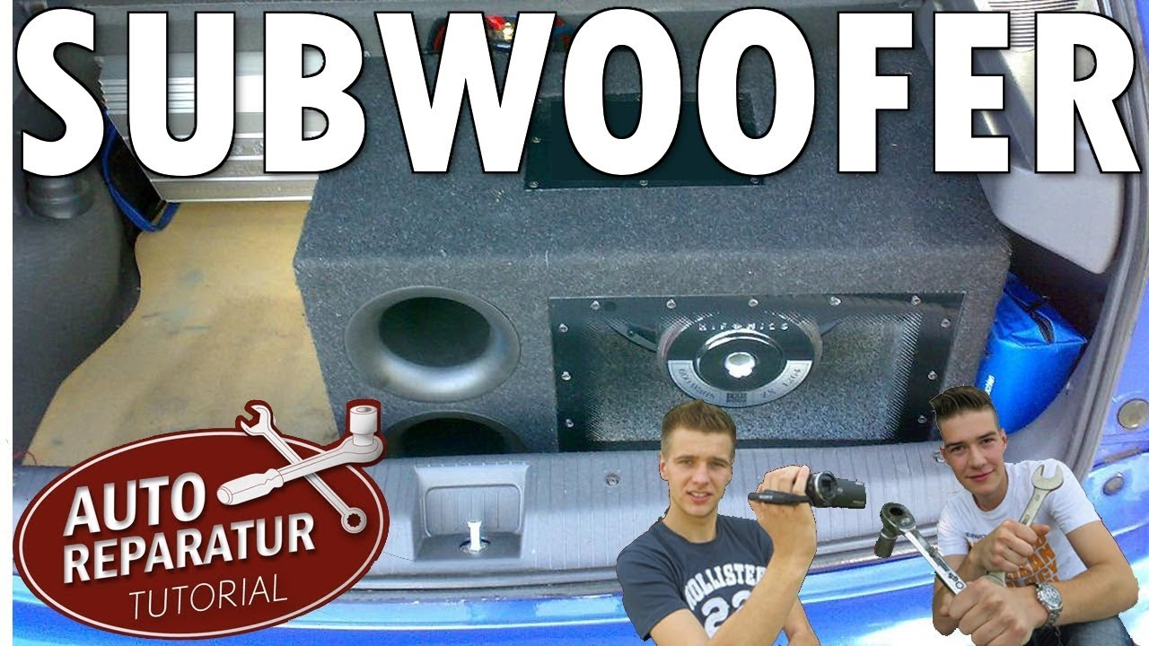 subwoofer einbauen endstufe nachr sten jbl auto tutorial youtube. Black Bedroom Furniture Sets. Home Design Ideas