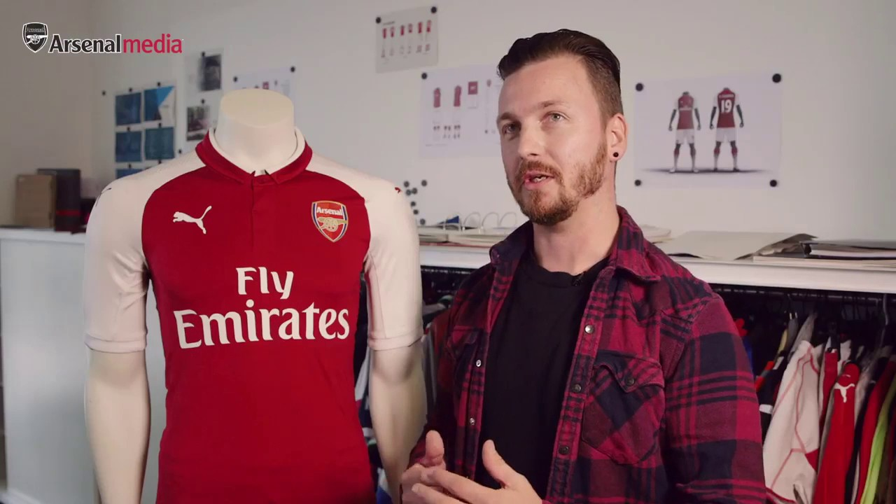 00e5f30c0 Arsenal home kit 2017 with James Hanson - YouTube