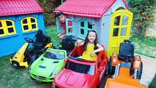 Öykü Pretend Play with Toy Cars