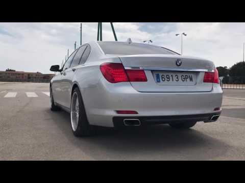 BMW F01 740i Straight Pipe Muffler Delete Exhaust Sound