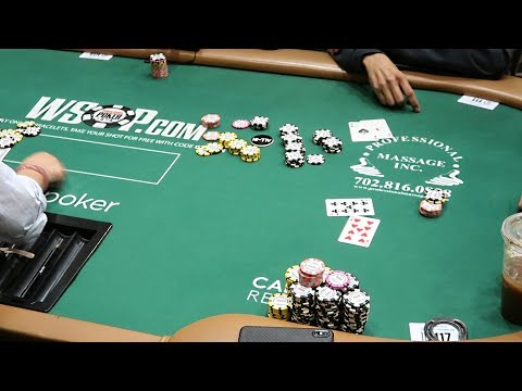 WSOP Money Bubble And We're Dealt ACES!