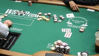 WSOP Money Bubble and we're dealt ACES!