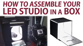 How to Assemble the Fotodiox LED Studio in a Box