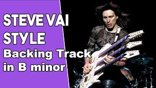 Steve Vai Style Rock Backing track in Bm
