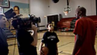 Making movies with grade school hoops star Jaylin Fleming