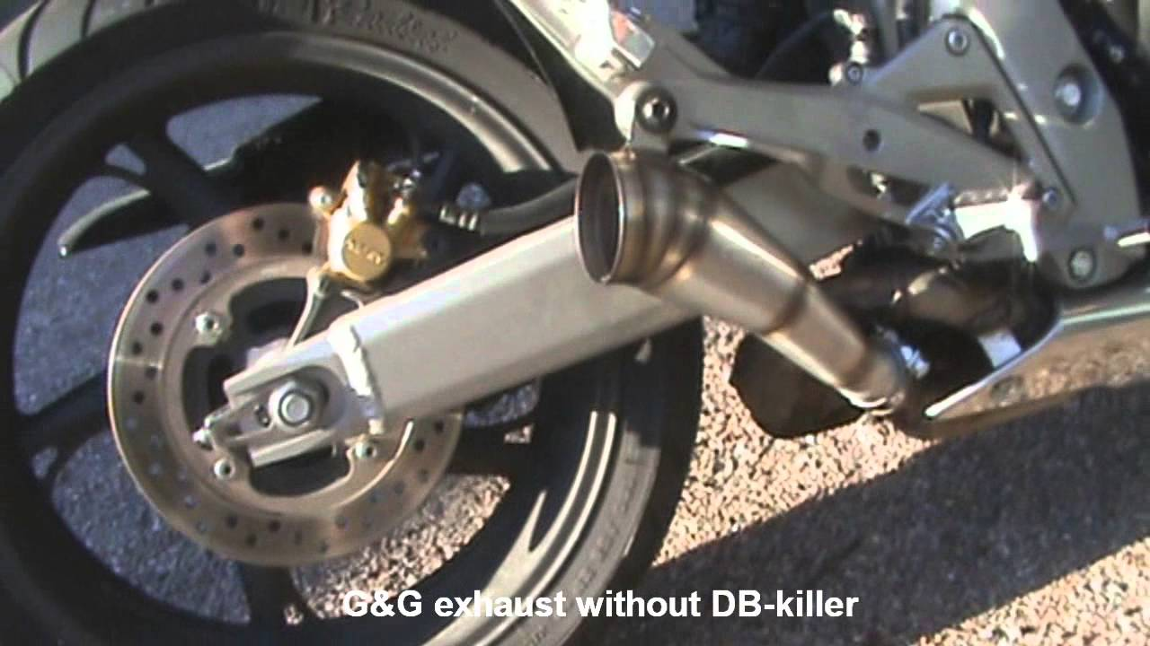 honda cb  hornet gg gp style exhaust youtube
