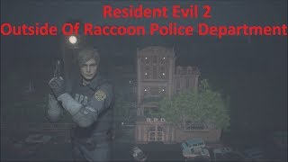 Resident Evil 2 Remake - Exploring Outside The Raccoon Police Station