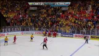 Sweden vs Russia World Juniors Fight at the end of the match