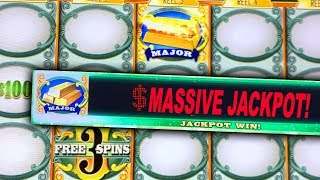 MAJOR JACKPOT HIT! ★ GREEN MACHINE SLOT MACHINE ➜ MASSIVE HANDPAY & BONUS WIN!