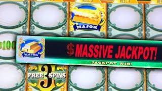 MAJOR JACKPOT HIT! ★ GREEN MACHINE SLOT MACHINE ➜ MASSIVE HANDPAY & BONUS WIN!
