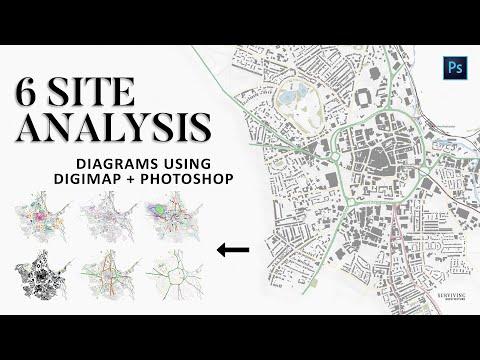 Digimap & Photoshop Site Analysis Architecture Diagrams -ad