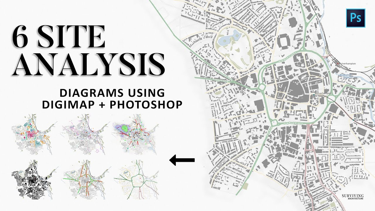 How To Use Digimap  Photoshop To Create Site Analysis