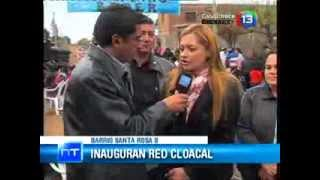 "Medios Provincia - ""Inauguraron obra de red cloacal en barrio Santa Rosa"""