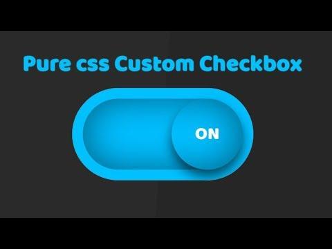 Custom Checkbox Design using html and css | Pure CSS Custom Checkbox