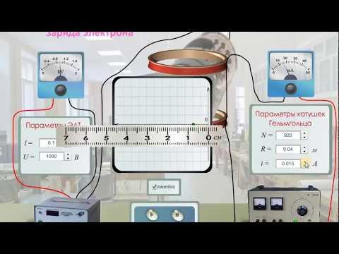 """Виртуальные лабораторные работы по физике """"Измерение удельного заряда электрона"""""""