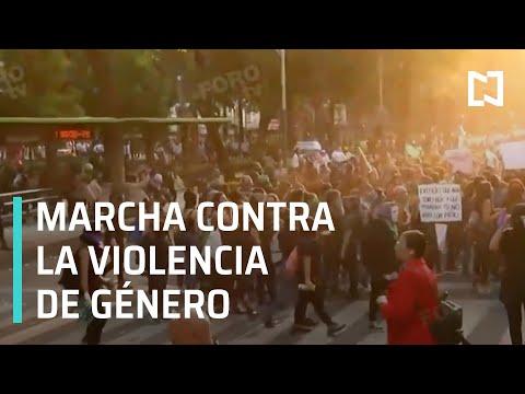 Marcha contra la violencia de género | Marcha de mujeres contra la violencia de género en CDMX