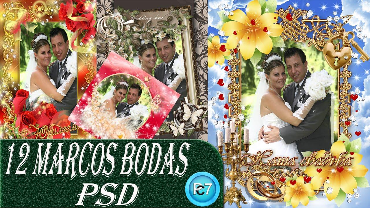 Pack de marcos bodas psd photoshop editables marcos psd - Cuadros para habitacion de matrimonio ...