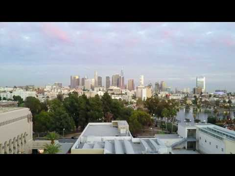 Drone Video Before Wedding At Carondelet House In Los Angeles
