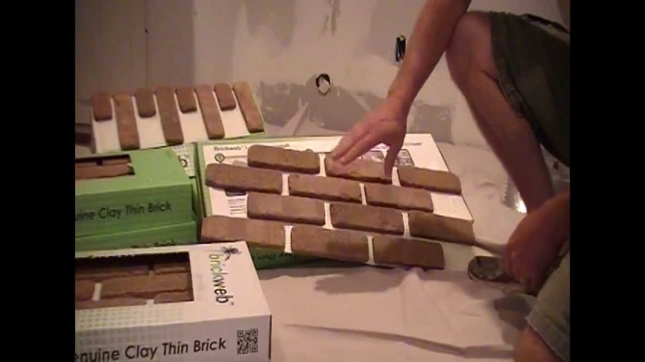 how to install brickweb thin brick interior installation part 1 of 2 youtube