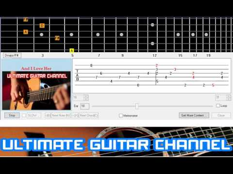[Guitar Solo Tab] And I Love Her (The Beatles)