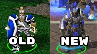 Warcraft 3 Human Side-by-Side Comparison - Original and Reforged