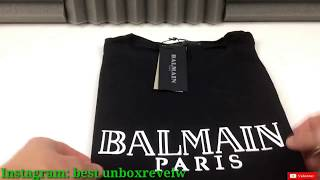 unboxing aliexpress/ioffer/dhgate : t-shirt balmain paris