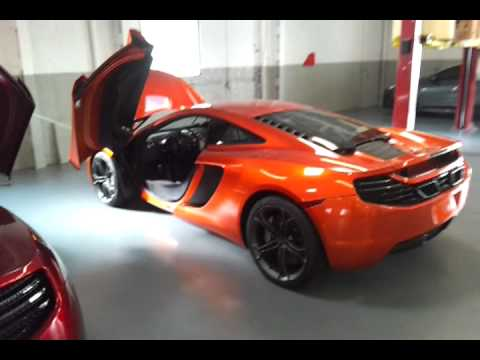 McLaren MP12-4C Startup and rev! - YouTube