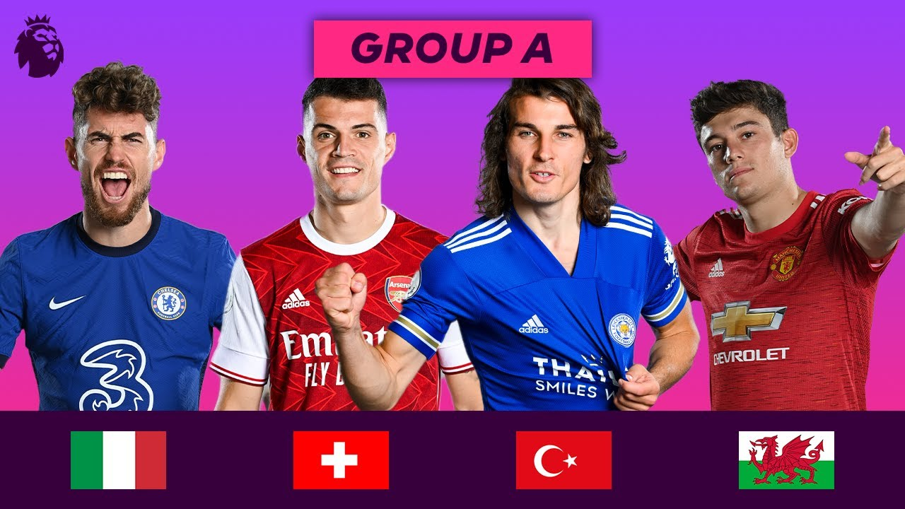 Premier League Stars at Euro 2020 | Group A | Söyüncü, Jorginho, James and Shaqiri