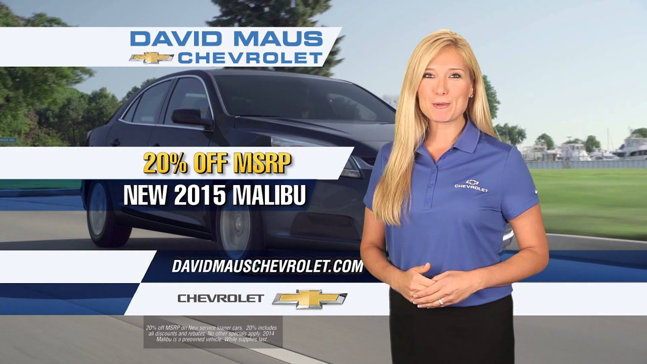David Maus Chevy >> Enjoy Summer Savings on a New Chevy Malibu! - YouTube