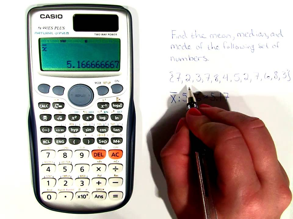 How To Find Mean Median And Mode On Your Calculator Lsm 1003